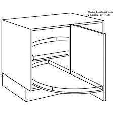 meuble bas d angle cuisine meuble bas d angle avec demi lune sortantes