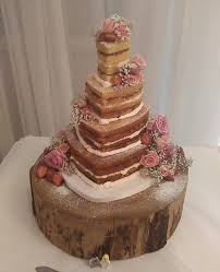 4 Tier Heart Shaped Naked Cake