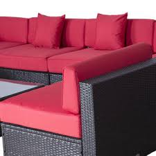 Outsunny Patio Furniture Cushions by 841 033cf Outsunny Modern 9 Piece Outdoor Patio Rattan Wicker Sofa