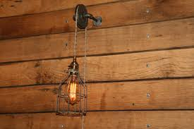 wall mounted pendant light lovely pulley mount with industrial