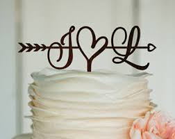 cake decorations rustic cake topper etsy