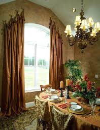 Dining Room Drapery Ideas Ways To Hang Curtains Carpet Table Chairs Window Chandelier Ceiling Light Plates
