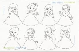 Girl Dress Coloring Pages