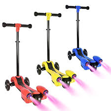 LED Light Up Rocket Spraying Scooters