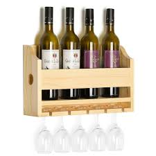 100 Glass Racks For Trucks Wall Mounted Wooden Wine Rack 4 Long Stem Holder Wine Cork