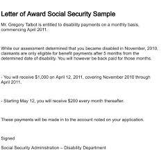 Letter Award for Social Security Disability Award Letter Copy