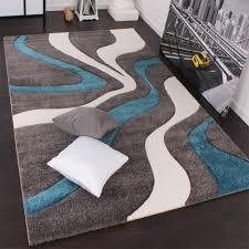 designer teppich grau türkis