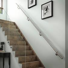 Metal Handrail: Stairs | EBay Elegant Glass Stair Railing Home Design Picture Of Stairs Loversiq Staircasedesign Staircases Stairs Staircase Stair Classy Wooden Floors And Step Added Staircase Banister As Glassprosca Residential Custom Railings 15 Best Stairboxcom Staircases Images On Pinterest Banisters Inspiration Cheshire Mouldings Marble With Chrome Banisters In Modern Spanish Villa Looking Up At An Art Deco Ornate Fusion Parts Spindles Handrails Panels Jackson The 25 Railing Design Ideas