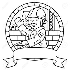 Travailleur De La Construction 1 De Livre De Coloriage Illustration