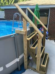 Above Ground Pool Ladder Deck Attachment by New Above Ground Pool Ladder Home Improvements Pinterest