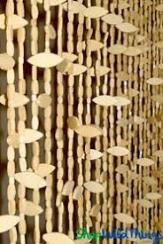 Doorway Beaded Curtains Wood by Wooden Bead Curtain