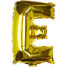 Large Pick And Mix Gold Foil Letter E Balloon Hobbycraft