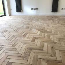 Parquet Solid Oak Wood Flooring In Natural Finish Herringbone Or Fishbone Design