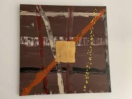 leinwand gemälde acryl kunst 80 80 esstisch esszimmer sofa