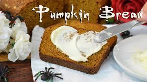 Starbucks Pumpkin Loaf Ingredients by Pumpkin Bread Halloween Baking Youtube