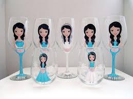 Personalized Wine Glasses Bridesmaid Bridesamaid Champagne Wedding Flower