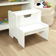 White Step Stool Childrens Wooden Folding Child