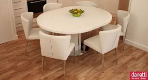 100 White Gloss Extending Dining Table And Chairs Curva Set Round Kitchen