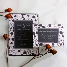 Cheap Black And White Vintage Damask Wedding Invitations With Free Response Card