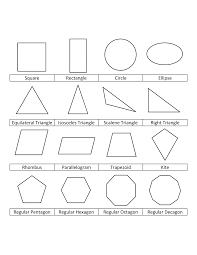 Geometric Shapes Coloring Pages For Kids