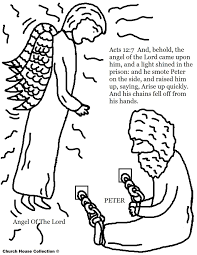 Free Coloring Pages Of Peter In Jail With The Angel Lord