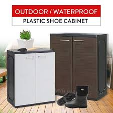 Qoo10 PLASTIC SHOE CABINET WATERPROOF OUTDOOR CABINET