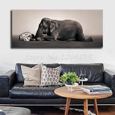 asche und schnee elefanten junge leinwand malerei drucken wohnzimmer wohnkultur moderne wand kunst ölgemälde poster