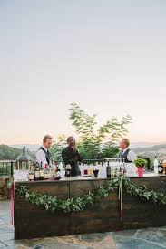 Outdoor Bar With Garland