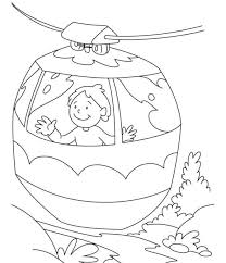 In Cable Car Coloring Page