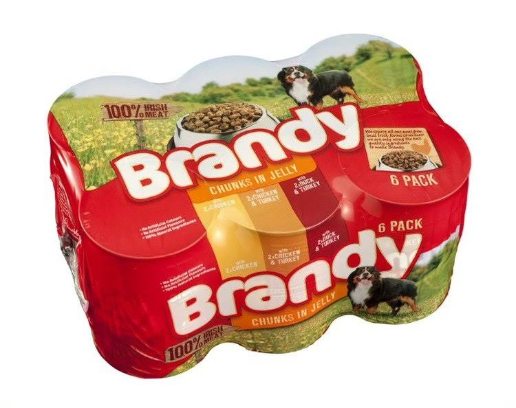 Brandy Chunks in Jelly Dog Food - 6 Variety, 395g