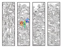 Coloring Bookmarks Mushroom Bookmark Page For
