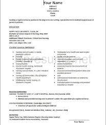 Rn New Grad Resume Custom Template Examples Nurse