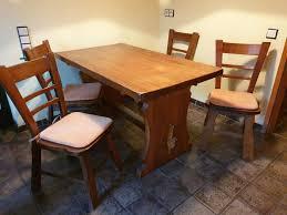 eiche rustikal esszimmer tisch und 4 stühle vollmassiv
