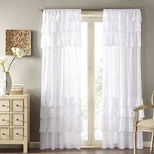 Curtain Rod Set India by Buy Dekor World Voil White Ruffle Cotton Rod Curtain Set Pack Of