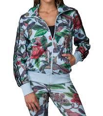 adidas florera bird floral print track jacket multi color