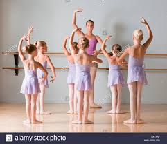group of ballet dancers standing in a row stock photo royalty
