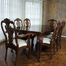 Chippendale Style Extension Dining Table And Chairs By Kincaid Furniture