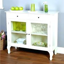 Dining Room Buffet With Glass Doors Sideboard Console Table Storage Antique White Ideas