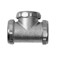 Dearborn Brass 20 Gauge 1 1 2 in Tee Slip Joint Chrome 8481