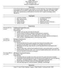 Resume For Cdl Truck Driver Sample Best