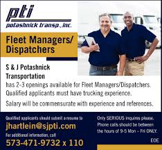 Fleet Managers/ Dispatchers, S & J Potashnick Transportation ... 46 Awesome Police Dispatcher Cover Letter Pics Informatics Journals I Want To Be A Freight Broker What Will My Salary The Globe Usic Truck Usic Office Photo Glassdoor Industrial Jobs In Canada Randstad Dispatch Software Best Image Kusaboshicom 4 Reasons Why You Should Become Professional Driver Ait Car Hauling Auto Dispatching Tips Using Central Cris No Qualified Drivers Truckerdesiree Drive For Four Star Transportation Driver Shortage Nationwide Leads High Demand For Jobs In Pdf Pay Incentives And Safety A Hshot Dispatcher Pay Youtube