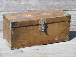 vintage wood tool box