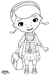 Doc McStuffins Stethoscope And Doctor Bag Coloring Page For