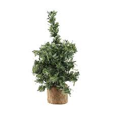 Artificial Silvertip Christmas Tree by 4 Mini Pine Artificial Village Christmas Tree Unlit