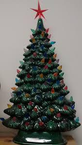 16 Classic Ceramic Christmas Tree With Bulbs Light Kit