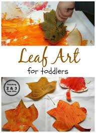 Easy Sponge Painted Leafs for Toddlers