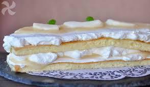 tarta de nata y pera en thermomix