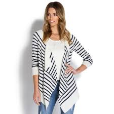 striped open front cardigan shoedazzle