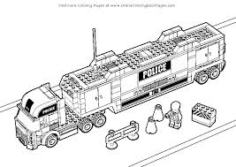 Lego City Free Coloring Pages