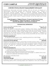 Top Construction Company Owner Resume Sample Business And